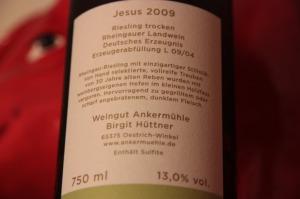 Ein Landwein: 2009 Ankermühle Riesling Jesus
