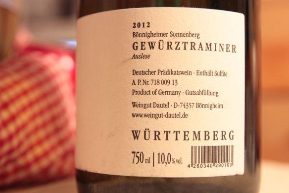 Info: 2012 Dautel Gewürztraminer Auslese