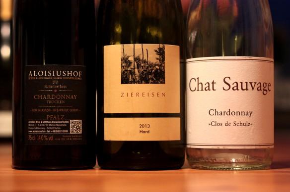 Deutscher Chardonnay: Alosiushof, Ziereisen und Chat Sauvage